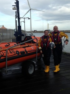 2014 10 06 - New Crew Member Chelsea Whyman & Departing Crew Member Keith Packwood following training exercise