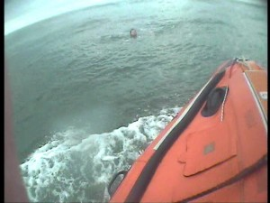 Blyth Lifeboat Approaching Teenager In Water Closer - 2nd Call Of The Evening