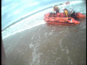 Blyth Lifeboat On The Beach - 1st Call Of The Evening
