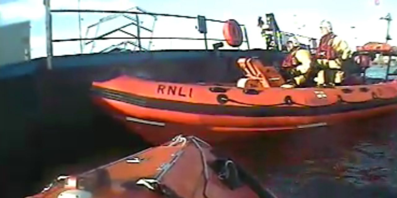 Blyth RNLI launched in response to a report of a distress signal