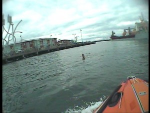 Helmet Camera - Male in the water and Karla C in the background